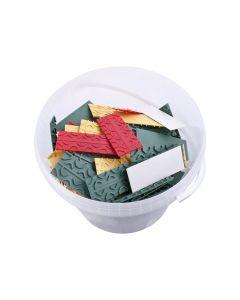 Verglasungsklötze | gemixter im Eimer mit 400 Teilen